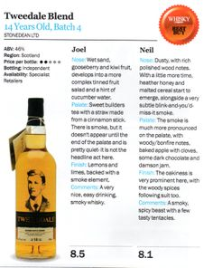 Whisky Magazine Best Buy Award The Tweeddale Limited Edition blended Scotch Whisky Aged 14 years Batch 4.