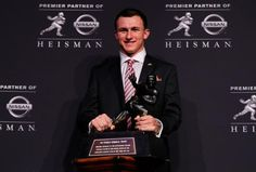 2012 Heisman Winner Johnny Manziel - redshirt freshman quarterback