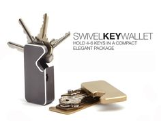 The Swivel key wallet was created to solve one simple problem, organize your keys in an elegant compact package.