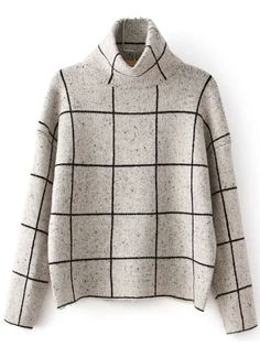 grid sweater.