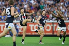 Jamie Elliott Photos Photos: AFL Rd 2 - Collingwood v Carlton Collingwood Football Club, Melbourne, Sporty, Goals, Running, Photos, Pictures