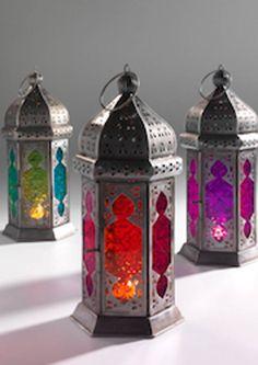 Moroccan glass lanterns- graduated color                                                                                                                                                                                 More