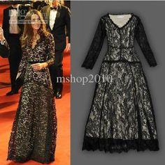 Wholesale V NECK BLACK lace ladies DRESS women's dress short sleeve Dress Evening dress, Free shipping, $76.3-94.4/Piece   DHgate