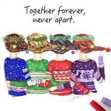 From left to right: Selena, me, Lindsay, Chelsea. Just that NONE of us would wear those sweaters, and we should include Grace and Samantha Best Friend Drawings, Bff Drawings, Disney Drawings, Best Friends For Life, Best Friend Goals, Best Friends Forever, Estilo Disney, Ship Drawing, Bff Goals