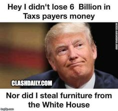 He backed the loss with his own money, and when The Clinton State Department lost track of 6 Billion, THAT gets a pass?!? By the way, Hillary's Taxes show in page 16, that she also used IRS tax provisions to carry a loss over several years. Not reported huh.