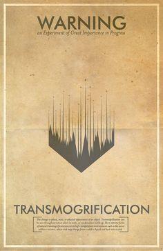 Transmogrification Warning Poster // Fringe Science Illustration Poster // Vintage Science Fiction Wall Art