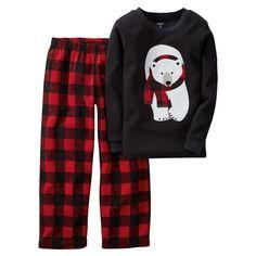 273e600526 Carter s Baby Boys  Polar Bear Pajama Set Grab these adorable Carter s  pajamas for the holidays! Features a polar bear and buffalo check plaid.