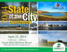 State of the City Luncheon on April 25, 2014. Buy tickets online at leaguecitychamber.com