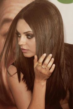 Mila Kunis eyes and hair!