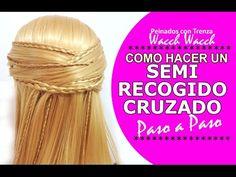 Peinados Semirecogidos con Trenza Faciles en 5 MINUTOS!