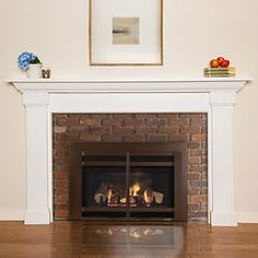 Most current Screen brick Fireplace Mantels Style Fremont Custom Wood Fireplace Mantel Surround If you do a prefab mantel this one in white would be Wood Mantel Shelf, Custom Fireplace Mantels, Farmhouse Fireplace Mantels, Fireplace Mantel Surrounds, Rustic Mantel, Wood Mantels, Modern Fireplace, Brick Fireplace, Fireplace Design