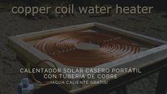 Cómo construir un calentador solar casero portátil con tubería de cobre.