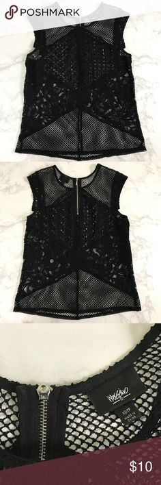 Mossimo Netted Lace Cap Sleeve Tank Top Size XS▪️In perfect condition; no stains, holes, or flaws▪️ Save 10% on bundles with 2 or more items▪️ Mossimo Supply Co Tops Tank Tops