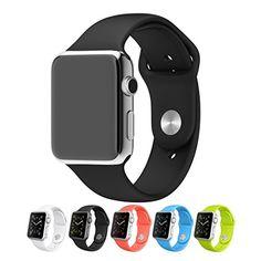 Japace® Uhrband Uhrenarmband aus Silikon Watch Strap Wrist Band Uhr Zubehör für 42 mm Apple Smartwatch iWatch - Schwarz - http://uhr.haus/japace/japace-uhrband-uhrenarmband-aus-silikon-watch-r-f