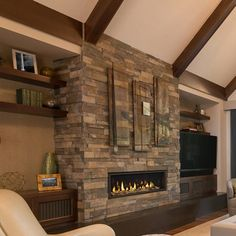 Create a relaxing and comfortable atmosphere with the Majestic Echelon II Direct Vent Gas Fireplace - 48 Direct Vent Gas Fireplace, Vented Gas Fireplace, Fireplace Stores, Indoor Fireplaces, Fire Glass, New Home Construction, Home Technology, Fireplace Accessories, Hearth
