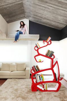 The Wisdom Tree Bookshelf, designed by Jordi Milà  #books #furniture #home