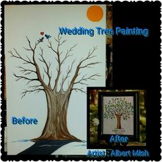 Wedding Tree Painting Apple Art, Tree Wedding, Paintings, Frame, Artwork, Design, Home Decor, Homemade Home Decor, Work Of Art