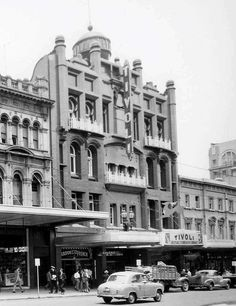 Tivoli Theatre, 241-251 Bourke Street. Built by entrepreneur Harry Rickards in 1901, it was first known as the New Opera House before being renamed as the Tivoli Theatre in 1912. It became a cinema in 1966 but was burnt out by fire in 1967. The existing Tivoli Court Building was built in 1970.