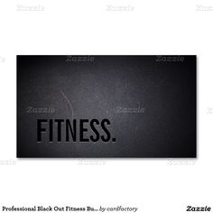 Professional Black Out Fitness Business Card