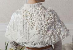 """Купить берет """"Снежные цветы"""" - белый, однотонный, стильный аксессуар, нарядный аксессуар, белый берет"""