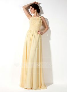 Bridesmaid Dresses - $97.49 - A-Line/Princess Scoop Neck Floor-Length Chiffon Bridesmaid Dress With Ruffle (007022521) http://jjshouse.com/A-Line-Princess-Scoop-Neck-Floor-Length-Chiffon-Bridesmaid-Dress-With-Ruffle-007022521-g22521?pos=ultimately_buy_2