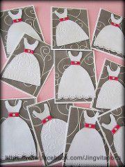 girl white dress card (Jingvitations) Tags: birthday wedding scrapbook cards…