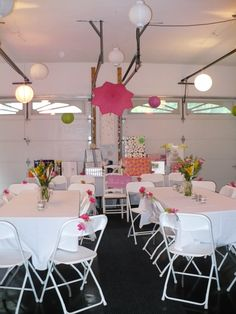 Garage Transformation For A Bridal Shower