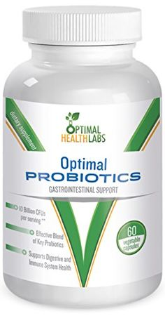 Optimal Probiotics - Best Probiotic Supplement for Women Men and Kids - Natural & Effective Extra Strength Once Daily Formula Provides Billions of Intestinal Flora including Acidophilus & Lactobacillus to Improve Your Immune System, Digestive and Colon Health - 100% Satisfaction Guarantee! Optimal Health Labs http://smile.amazon.com/dp/B00OPF2392/ref=cm_sw_r_pi_dp_eSFSub0RNDG7Z