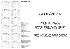 Calendário 2017 para Imprimir