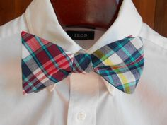 2364a2a6de7c Blue Red and Teal Madras Plaid Mens Bow Tie by TrulySouthernTies, $25.00  Bowtie And Suspenders