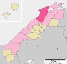 Lage Izumos in der Präfektur