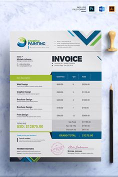 Corporate simple, unique & modern invoice template for multipurpose business, company or intitute and personal purpose usages.Flexible and professional invoice Company Letterhead Template, Invoice Design Template, Letterhead Design, Stationery Design, Brochure Design, Templates, Free Receipt Template, Printable Invoice, Construction Business Cards