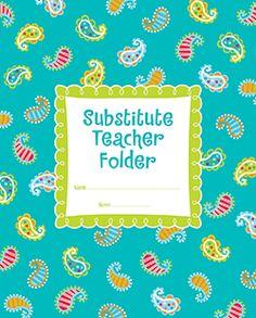Dots on Turquoise Substitute Teacher Folder