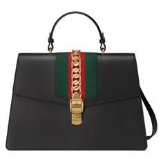 Gucci Sylvie, Gucci Shoulder Bag, Luxury Bags, Hermes Kelly, Mini Bag, Crossbody Bag, Black Leather, Handbags, Gifts