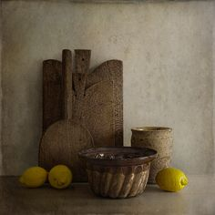 ❤ - Tineke Stoffels - French Cutting Boards And Lemons, processing by Tineke Stoffels