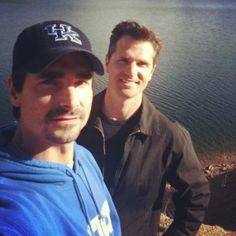 Kevin and his brother Tim at a lake somewhere in Kentucky.