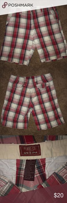 ae014fab6b Plugg plaid shorts size 36 Men's Plugg Co. shorts. 100% cotton. Belt