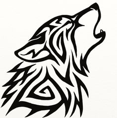 Tribal Wolf Tattoos Designs And Ideas Wolf Tattoo Design, Tattoo Wolf, Wolf Tattoo Tribal, Wolf Design, Celtic Wolf Tattoo, Howling Wolf Tattoo, Wolf Howling Drawing, Wolf Head Drawing, Tribal Drawings