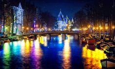 <3 Amsterdam Canals, I Amsterdam, Paris City, City Lights, Holland, New York Skyline, Castle, Explore, Places