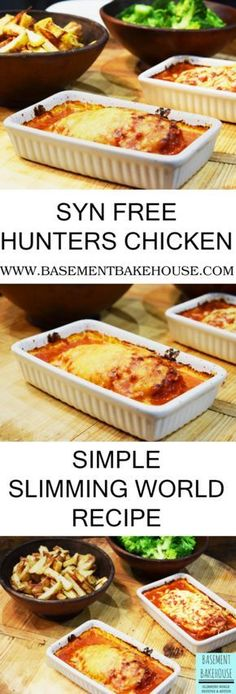 SYN FREE HUNTERS CHICKEN - SLIMMING WORLD RECIPE - FANTASTIC DINNER IDEA - EASY, QUICK AND SIMPLE