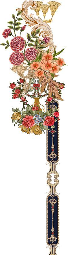 Hawaiian Print, Border Design, Graphic Design Art, Pet Birds, Flower Art, Baroque, Vectors, Nom Nom, Flowers