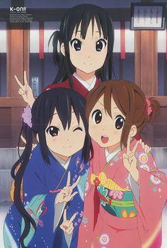 K-ON!! poster promo Hirasawa Yui , Akiyama Mio ,  Nakano Azusa