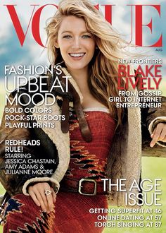 Blake Lively covers Vogue August 2014