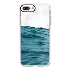 Ocean & Marble iPhone and iPod Case - iPhone 7 Plus Case And Cover (125 BRL) ❤ liked on Polyvore featuring accessories, tech accessories, phone cases, iphone case, iphone cover case, iphone cases, marble iphone case, clear iphone case and apple iphone case
