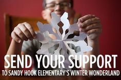 PLEASE SHARE! The Connecticut PTSA is asking everyone in the country to send in snowflakes to welcome Sandy Hook Elementary's students to their new building when they start back.  What a wonderful, tangible way to help!