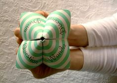 cootie catchers...crazy name, don't know why we called them that!