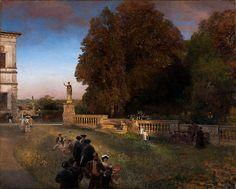 Le Prince Lointain: Oswald Achenbach (1827-1905), Dans le Parc de la V...