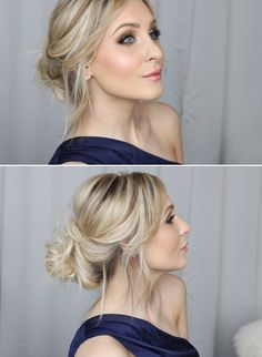 VIDEOTUTORIAL – lovely messy and simple updo--begins at 12:29 | Helen Torsgården - Hiilens sminkblogg |