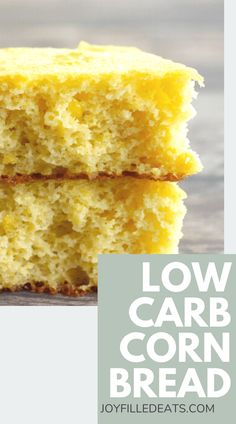 This almond flour cornbread is the side dish you have been waiting to taste. It's soft, tender, and packed with delectable flavors that make it completely crave-worthy. Learn how to make this low carb cornbread with just 8 ingredients and a little bit of time. It's gluten-free, grain-free, low carb, keto friendly, and absolutely delicious. Low Carb Bread, Keto Bread, Make Almond Flour, Low Carb Recipes, Healthy Recipes, Healthy Breads, Clean Recipes, Free Recipes, Gluten Free Grains