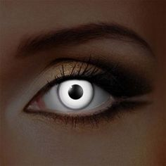 White UV i-Glow Zombie Halloween Colored Contact Lenses (Daily)